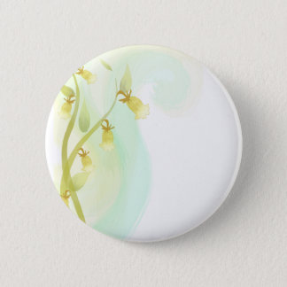 Yellow Bells Watercolor Wash Pinback Button