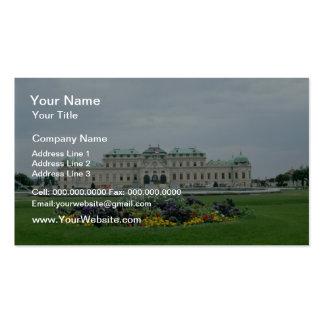 yellow Belvedere Palace, Vienna, Austria flowers Business Card Template