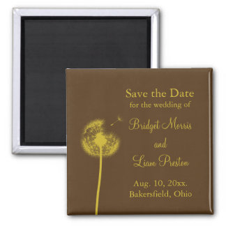 Yellow Best Wishes! Save the Date Magnet