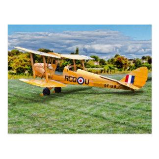 Yellow Bi Plane Postcard