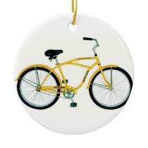 yellow bicycle christmas ornament - Bicycle Christmas Ornament