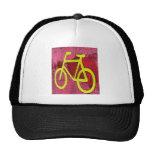 Yellow bicycle trucker hats