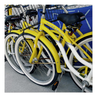 Yellow Bicycles Poster