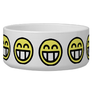 Yellow Big Grin Smiley Face Bowl
