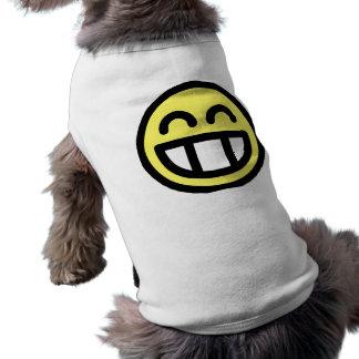 Yellow Big Grin Smiley Face Dog Shirt