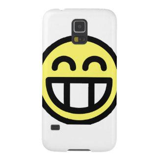 Yellow Big Grin Smiley Face Galaxy S5 Case