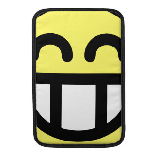 Yellow Big Grin Smiley Face MacBook Air Sleeve