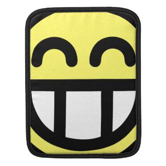 Yellow Big Grin Smiley Face iPad Sleeves