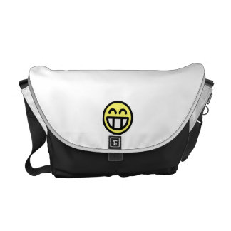 Yellow Big Grin Smiley Face Commuter Bag