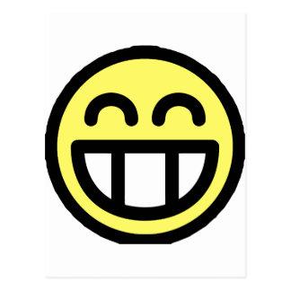 Yellow Big Grin Smiley Face Postcard