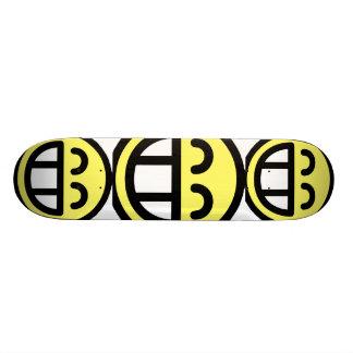 Yellow Big Grin Smiley Face Skateboard Deck