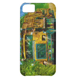 Yellow Big Rig Scaffolding Transporter Truck iPhone 5C Cover