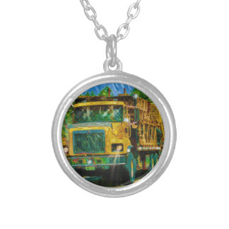 Yellow Big Rig Scaffolding Transporter Truck Pendant