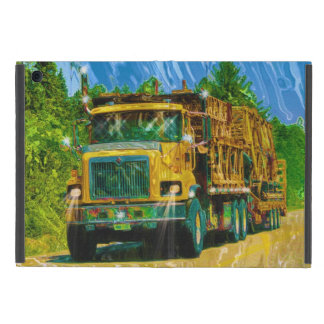 Yellow Big Rig Truckers Lorry & Highway Truck Cover For iPad Mini