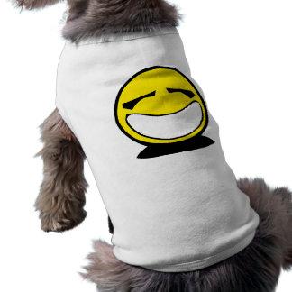 Yellow big smiley smile doggie shirt