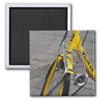 Yellow Bike Amsterdam Holland Fridge Magnet
