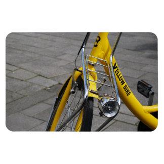 Yellow Bike Amsterdam Holland Rectangle Magnet
