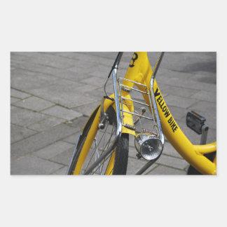 Yellow Bike Amsterdam, Holland Rectangular Sticker
