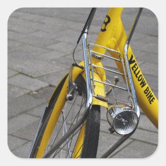 Yellow Bike Amsterdam, Holland Square Sticker