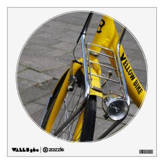 Yellow Bike Amsterdam, Holland Wall Skin