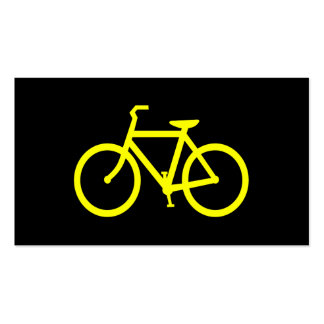 Yellow  Bike Double-Sided Standard Business Cards (Pack Of 100)