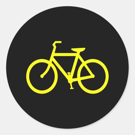 Yellow  Bike Classic Round Sticker