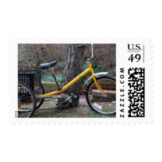 Yellow bike postage