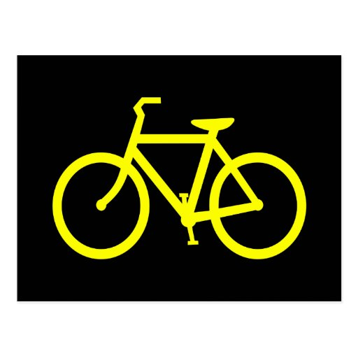 Yellow  Bike Postcards