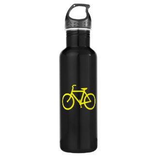 Yellow  Bike Stainless Steel Water Bottle