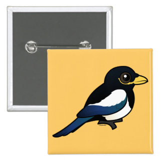 Yellow-billed Magpie Pinback Button