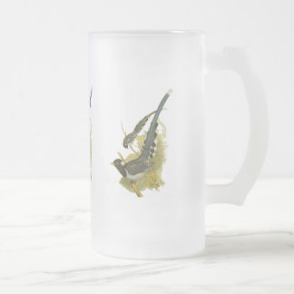 Yellow-billed (or Gold-billed) Blue Magpie Frosted Glass Beer Mug
