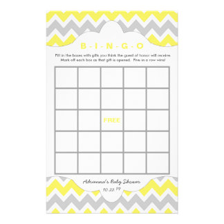 Yellow Bingo purse baby shower TWO GAME SET Flyer