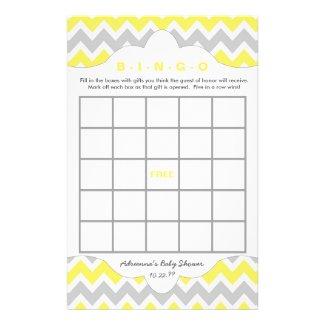 Yellow Bingo purse baby shower TWO GAME SET