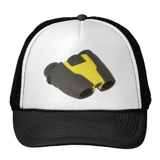 Yellow binoculars trucker hat