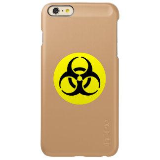 Yellow BioHazard Symbol Incipio Feather® Shine iPhone 6 Plus Case