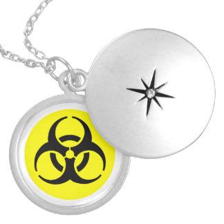 Yellow BioHazard Symbol Locket