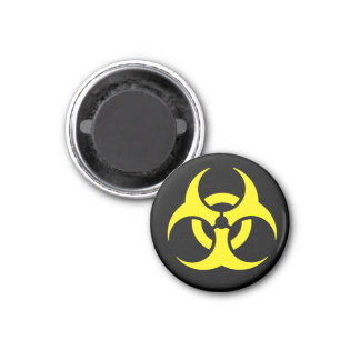 Yellow Biohazard Symbol. Magnet