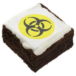 Yellow BioHazard Symbol Square Brownie