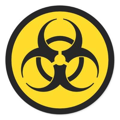 Yellow Biohazard Symbol Sticker $ 5.60