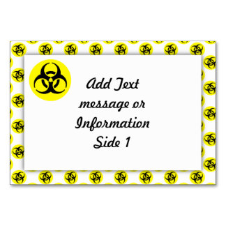 Yellow BioHazard Symbol Table Cards