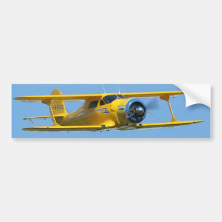 yellow biplane bumper sticker