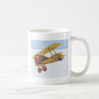 Yellow Biplane Mug