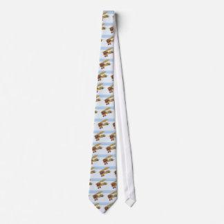 Yellow Biplane Tie
