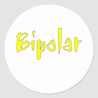 Yellow Bipolar Classic Round Sticker