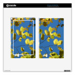 Yellow Birch Leaves Decal For Kindle Fire