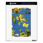 Yellow Birch Leaves Decal For The NOOK