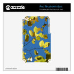 Yellow Birch Leaves iPod Touch 4G Decal