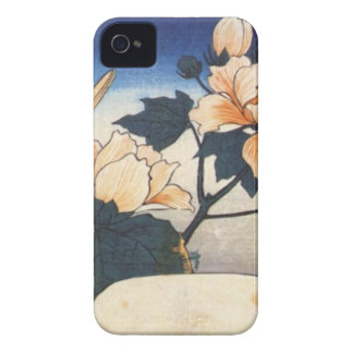 Yellow bird and cotton rose by Hiroshige Case-Mate iPhone 4 Case