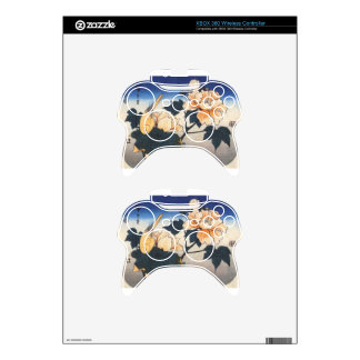 Yellow bird and cotton rose by Hiroshige Xbox 360 Controller Decal