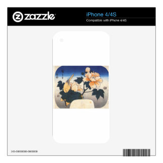 Yellow bird and cotton rose by Hiroshige Skin For The iPhone 4